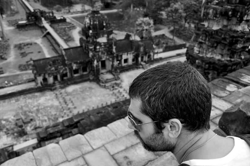 josh overlooking baphuon. december 2011.